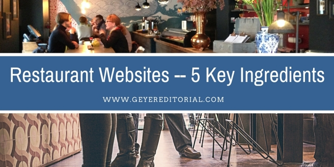 Restaurant Websites -- 5 Key Ingredients