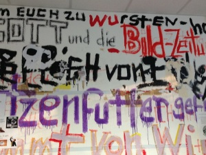 Graffiti in the offices of the Accelerator.