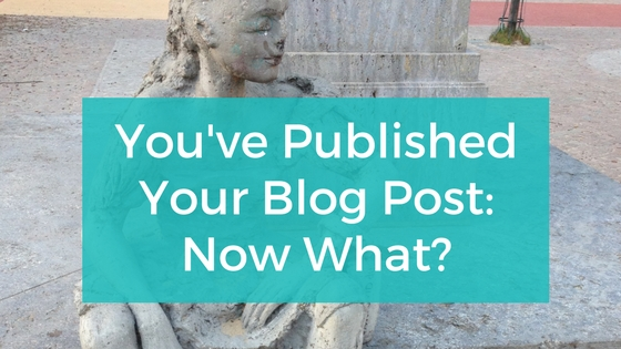 You Published Your Blog Post Now What
